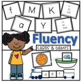 Letter Name, Sound, and Word Fluency Cards #flamingofriday