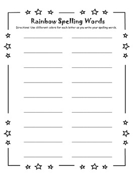 Letter Name Spelling Activity Pack