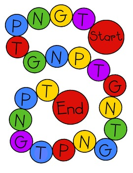 Letter Name T, G, N, P Word Sort #2 Game