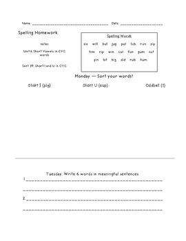 Letter Name Unit 6 Homework