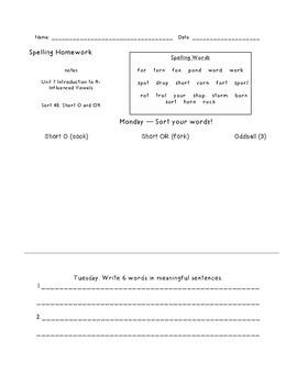 Letter Name Unit 7 Homework