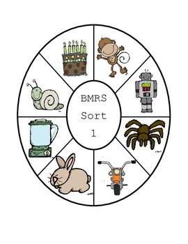 Letter Name Wheel Sort 1 B, M, R, S