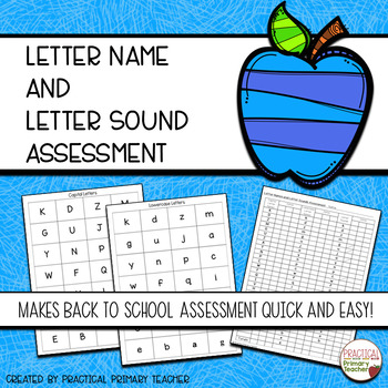 Letter Name and Letter Sound Assessments {25th FOLLOWER FREEBIE}