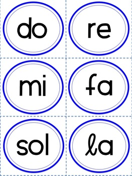 Letter Name and Solfa Cards for Melodic Practice