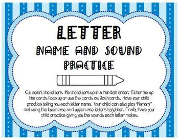 Letter Name and Sound Practice