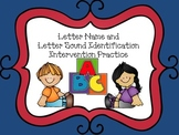 Letter Names and Letter Sound Identification Practice- Intervention