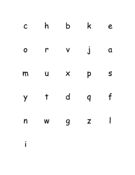Letter Names and Sounds Assessment Checklists
