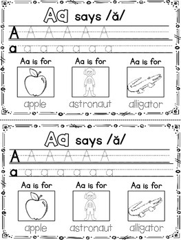 Letter Names and Sounds Mini-Book {Identify, Trace, and Color} {CCSS}