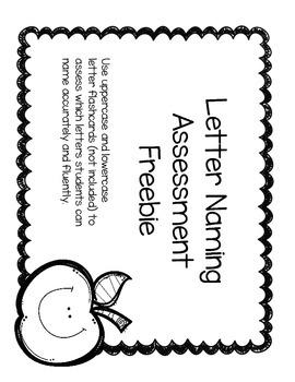Letter Naming Assessment Freebie