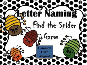 Letter Naming Find The Spider Game (CCSS Aligned)