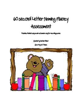 Letter Naming Fluency Assessment
