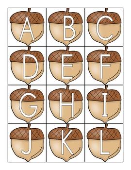 Letter Naming Fluency - Autumn Letters