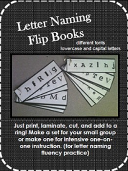 Letter Naming Fluency Flipbooks