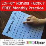 Alphabet Letters - Letter Naming Fluency Practice