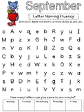 Letter Naming Fluency Practice Cute Cat Sample Page Freebie LNF
