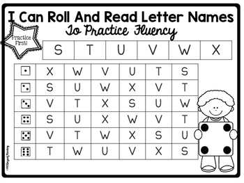 Letter Naming Fluency Games {Print and Play}