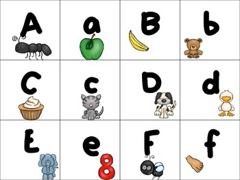 Letter Naming Fluency Matching Game Great for RtI