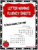 Letter Naming Fluency Pages & Alphabet Flash Cards