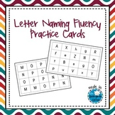 Letter Naming Fluency Practice Cards