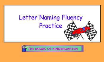 Letter Naming Fluency Raceway~Smartboard Activity