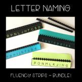 Letter Naming Fluency Strips - Bundle