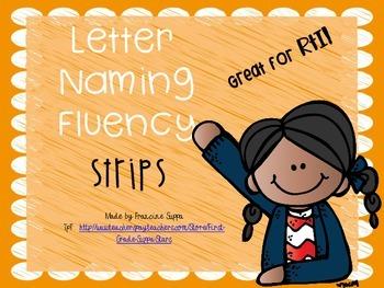 Letter Naming Fluency Strips Great for RtI