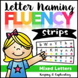 Letter Naming Fluency Strips {Mixed Letters}
