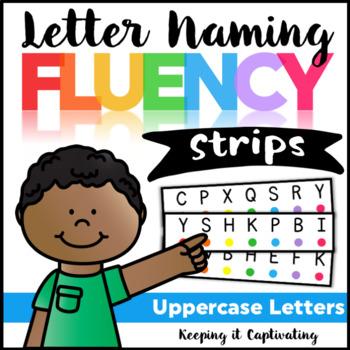 Letter Naming Fluency Strips {Uppercase Letters}
