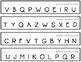 Letter Naming Fluency Strips - White Version