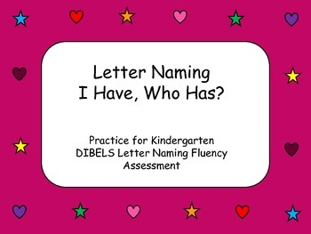 Letter Naming I Have Who Has?
