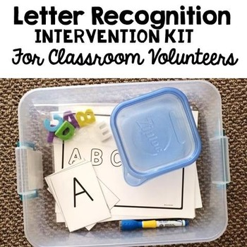 Letter Naming Fluency Interventions for Classroom Volunteers