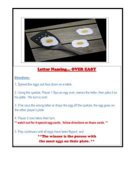 Letter Naming Over Easy  - grades K to 2