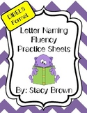 Letter Naming Practice Sheets and Homework (DIBELS format)
