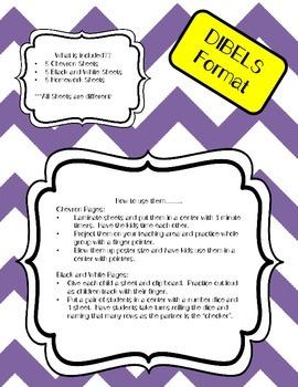 Letter Naming Practice Sheets and Homework (DIBELS format)