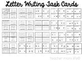 Letter Naming Task Cards