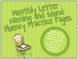 Letter Naming and Sound Fluency Monthly Practice {Perfect for RTI or Homework}