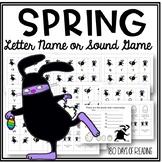 Spring Letter Naming or Sound Fluency Game