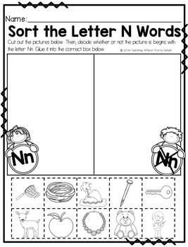 Letter Nn Activity Pack