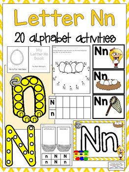 picture regarding Alphabet Games Printable titled Letter Nn Alphabet Routines (Video games, Printables, and Craftivities)