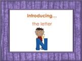 Letter Nn - Alphabet Lesson – Power Point – Interactive – Teaching the Letter N