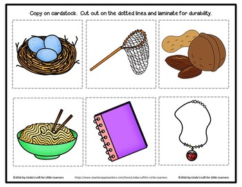 Letter Nn Beginning Sound Picture Web Activity