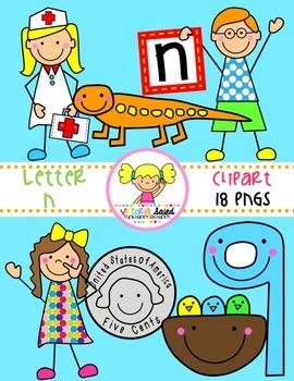 Letter Nn Clipart