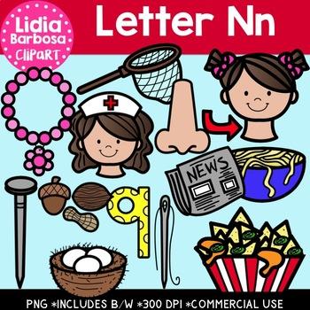 Letter Nn Digital Clipart