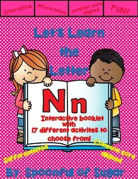 Letter Nn- Interactve Activities Booklet