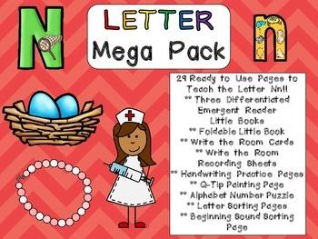 Letter Nn Mega Pack- Kindergarten Alphabet- Handwriting, L