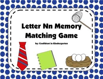 Letter Nn Memory Game