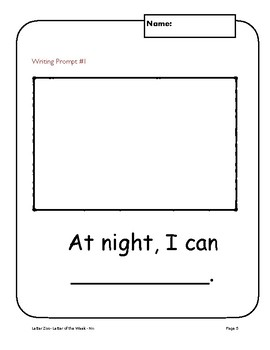 Letter Nn (N is for Night/Nocturnal Animals): Letter Zoo- Preschool Curriculum
