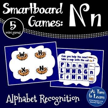 Letter Nn Smartboard Games (5 mini games) (Smartboard/Promethean Board)