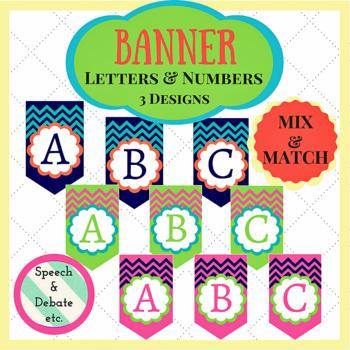 Letter & Number Banner Flags