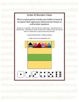 Letter & Number Color